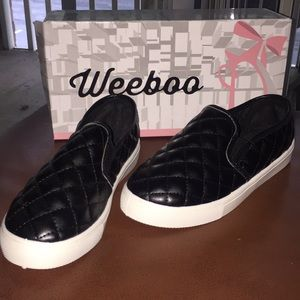 Shoes - Black Slip On Shoes